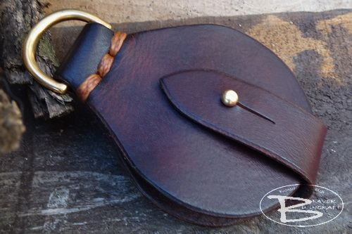 BESPOKE - Wallet Solar Pendant with Brass 'D' ring - CROSS STITCHED (85-506