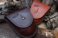 BESPOKE - Hudson Bay Tinderbox 'Possibles' Leather Belt Pouch - HAND CROSS STITCHED (45-5082)