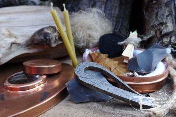 Fire vintage copper hudson bay tinderbox with steel striker by beaver bushc