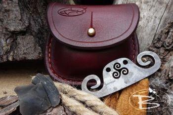 Vintage limited edition mini belt tinder kit made by beaver bushcraft