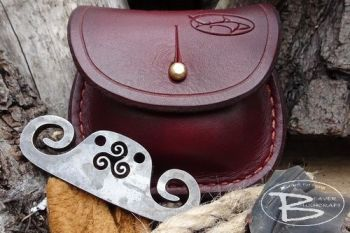 Vintage limited edition tinderpouch with viking inspired fire steel by beav