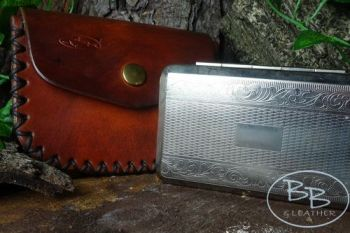 Vintage tinder pouch and french tinder box made by beaver bushcraft