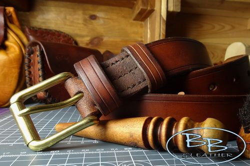 MAKE YOUR OWN  -  Traditional Leather Bushcraft/Outdoors Belt (48-7911-S-1.