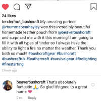 Tenderfoot_bushcrafts comments on onstgram