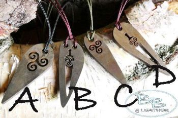 fire steel mini pendant samples by B Bushcraft