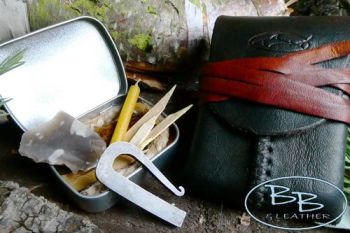 Vintage mini fire lighting kit made and designed by beaver bushcraft