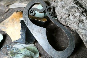 Fire steel plain version but with hook curls by beaver bushcraft
