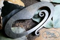 Traditional 'Curly' Oval Striker - Traditional 'Flint & Steel' Fire Striker - Limited Edition Piece