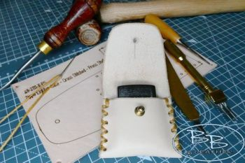 Leather make your own kit for a zippo lighter pouch kit by beaver bushcraft
