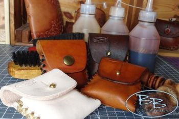 Leather make your own kit for zippo belt pouch by beaver bushcraft