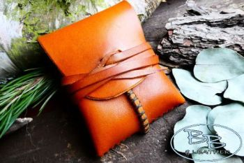 Leather make your own pocket tinder pouch made by beaver bushcraft