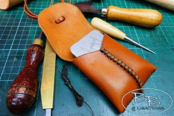 Leather make your own BB pocket tinder pouch by beaver bushcraft