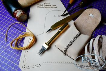 Leather make your own pocket tinder pouch by beaver bushcraft