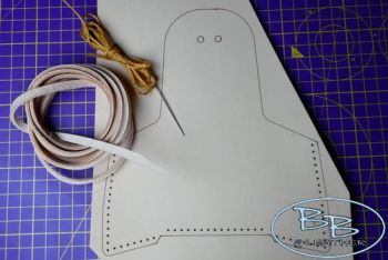 Leather make your own kit for the pocket tinderpouch by beaver bushcraft
