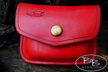 Vintage limited edition red pouch set for valentines day at beaver bushcraf