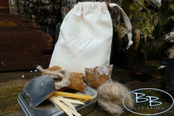 Fire starter tinder kit for flint & steel by beaver bushcraft