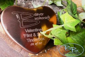 Fire heart shaped copper tinderbox by beaver bushcraft
