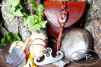 Vintage silver tinderbox with bespoke hand crafted pouch by beaver bushcraf