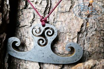 Vintage tinderbox with stunning styled fire steel pendant based on viking d