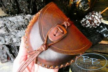Vintage one off hand crafted bespoke pouch for tinderbox by beaver bushcraf