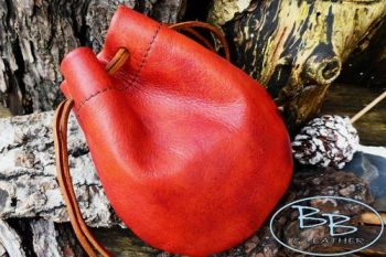 Vinatge young red dragon skin tinder pouch by beaver bushcraft