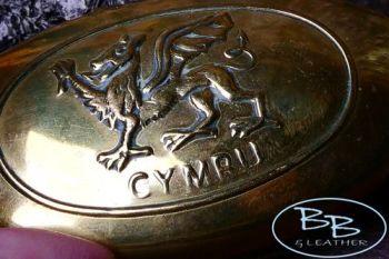 Vintage brass welsh tinderbox for beaver bushcraft