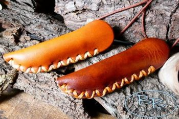 leather and fire mini fire storm neck sheaths by beaver bushcraft