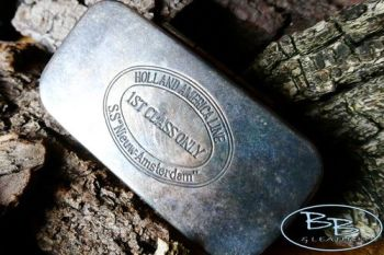 Vintage old classic tinderbox for beaver bushcraft one off item