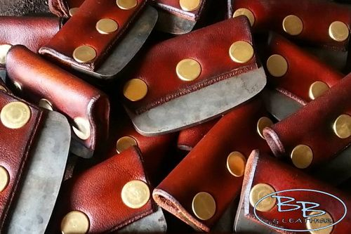 Fire and leather edged fire steels hand crafted by beaver bushcraft