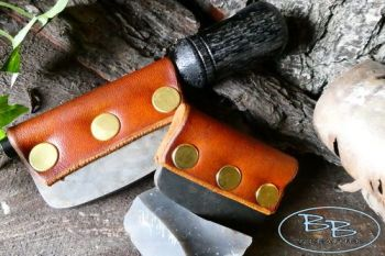 Fire & leather edge fire steel for firelighting by beaver bushcraft