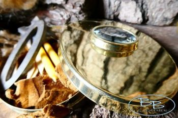 Fire brass hudson bay tinderbox full of tinders by beaver bushcraft 2021