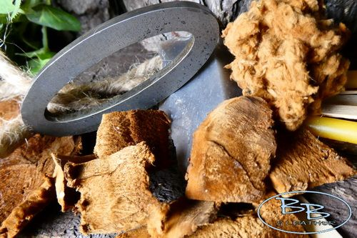 fire hudson bay tinderbox fire steel and tinder for beaver bushcraft