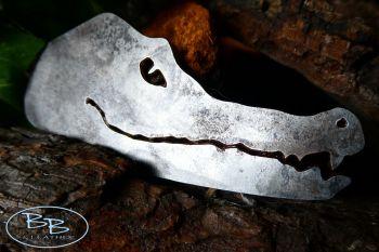 Fire steel aligator head traditional flint and steel striker by beaver bush
