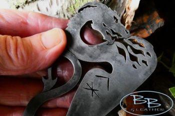Fire Breathing Dragon Striker with Viking Runes - Traditional 'Flint & Steel' (85-1204)