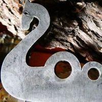 Fire steel 2021 dragon viking shield flint & steel striker by beaver bushcr