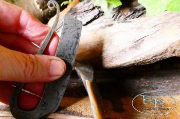 Fire steel 2021 R shaped Fire steel with flint by beaver bushcraft