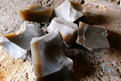 Bag of Mini Hand knapped English Flint Shards -  Mini Pack of 6