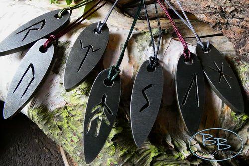 FIRE STEELS mini viking rune pendants by beaver bushcraft