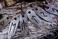 Viking Runes  Flint & Steel Fire Striker Pendant