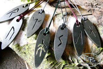 Mini 'Viking' Rune Flint & Steel Fire Striker Pendants