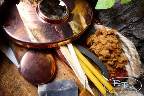 Fire copper hudson Bay tinderbox with full kit by beaver bushcraft