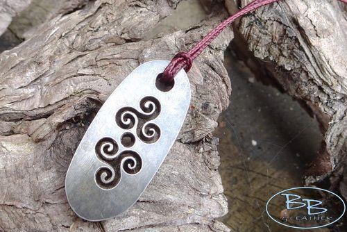 Mini Flint & Steel Fire Striker Celtic 'Triskele' Pendant (85-1580-02)