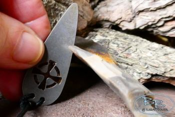 Fire steel pendant striker of a celtic cross by beaver bushcraft 2021