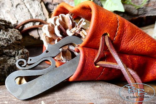 Leather soft aged dragon skin made by beaver bushcraft