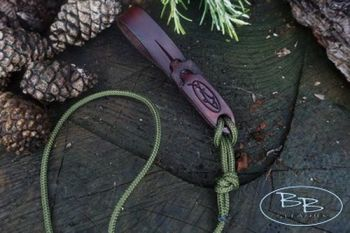 Leather belt loop twist and pull for give away