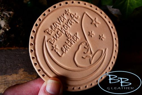 FREE£150+ - Natural Leather Patch - 'Beaver Moon Fishing For Stars' - With
