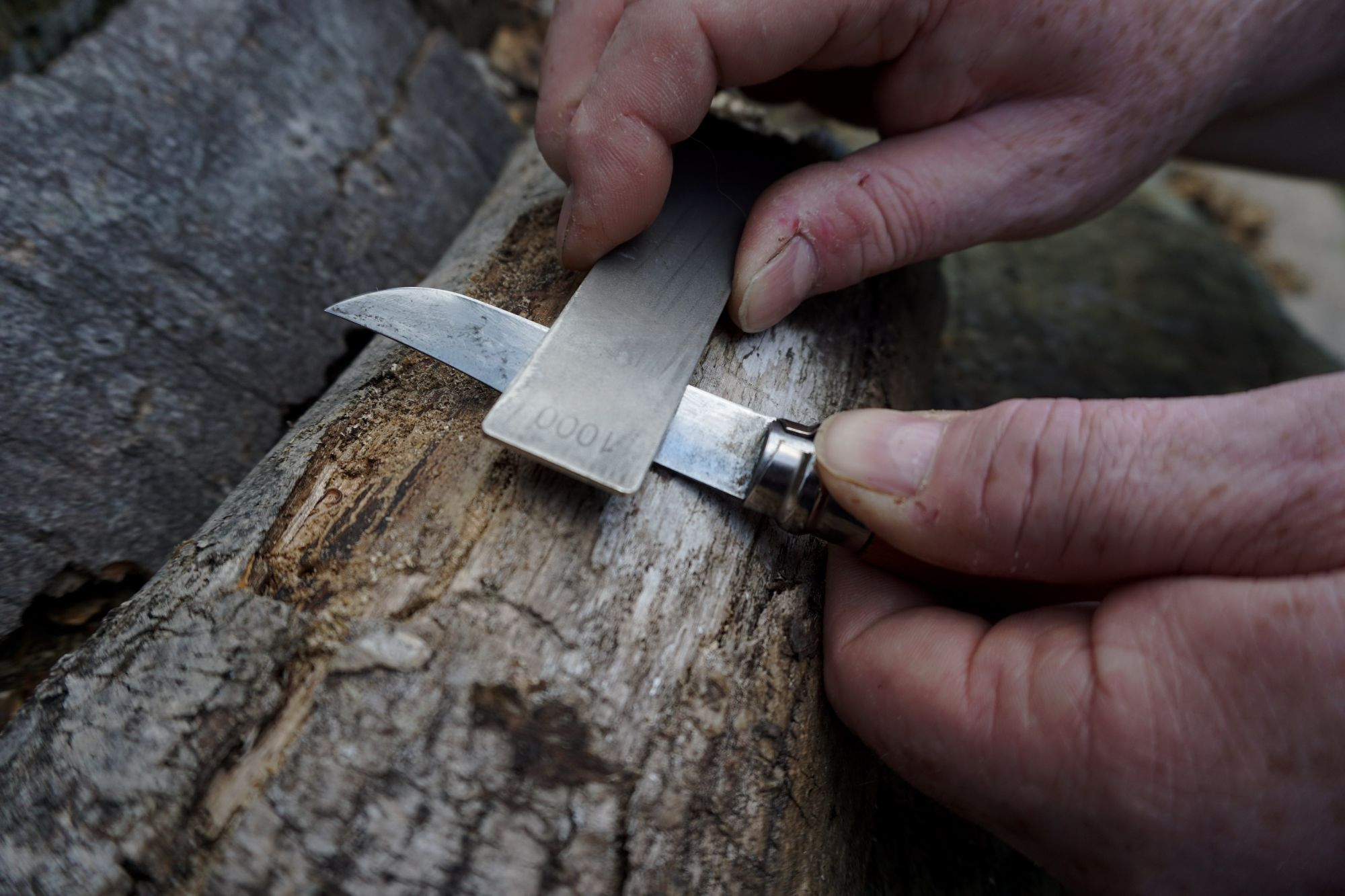 Keep Scrubbing the blade until you have a Burr