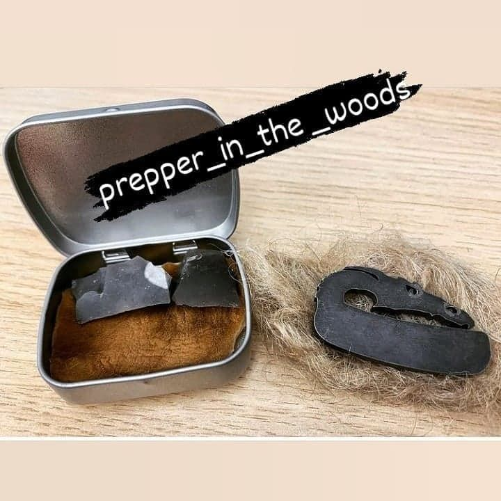 prepper in the woods