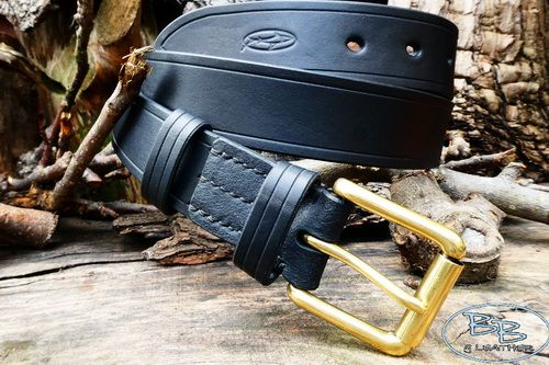 BESPOKE - Hand Stitched '911' Professional' Leather Belt - (45-3911)