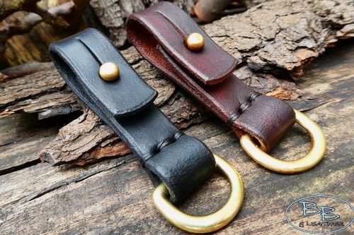 BESPOKE - Quick Release Belt Loop with Solid Brass 'D' Ring in 16mm or 25mm